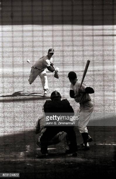 World Series Milwaukee Braves Bob Buhl in action pitching during Game 6 vs New York Yankees at Yankee Stadium Bronx NY CREDIT John G Zimmerman