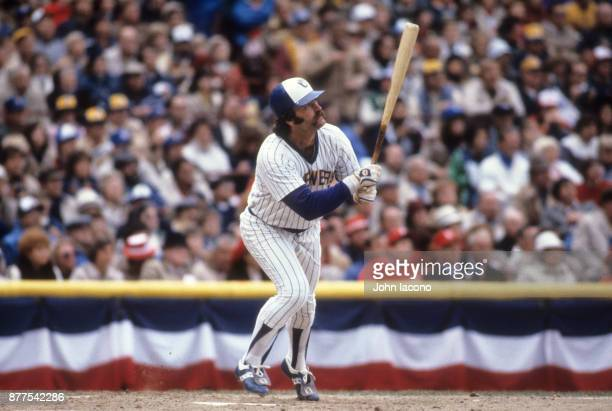 World Series Milwaukee Brewers Gorman Thomas in action at bat vs St Louis Cardinals at Milwaukee County Stadium Game 5 Milwaukee WO CREDIT John Iacono