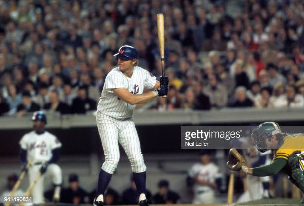 World Series New York Mets Rusty Staub in action at bat vs Oakland A's at Shea Stadium Game 3 Flushing NY CREDIT Neil Leifer