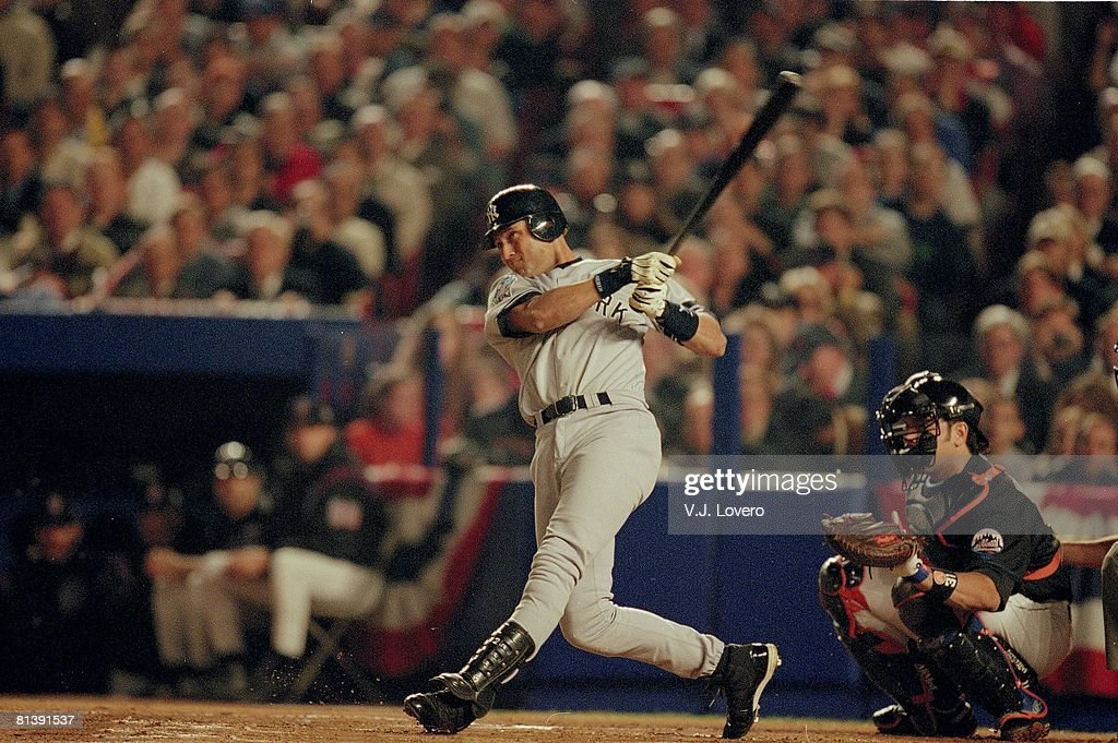 98e56681d World Series, New York Yankees Derek Jeter in action vs New York ...