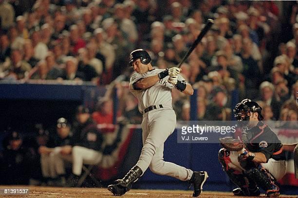 Baseball World Series New York Yankees Derek Jeter in action vs New York Mets Flushing NY