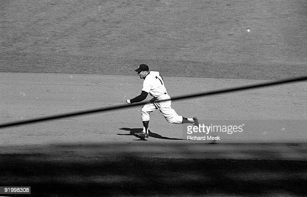 World Series New York Yankees Mickey Mantle in action base running vs Brooklyn Dodgers Game 4 Bronx NY 10/7/1956 CREDIT Richard Meek