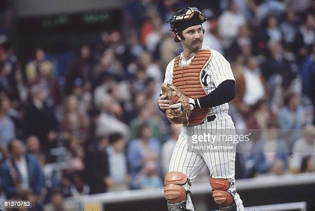 Baseball: World Series, New York Yankees Thurman Munson during game vs Los Angeles Dodgers, Bronx, NY