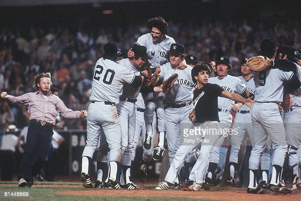 Baseball World Series New York Yankees victorious winning game and series vs Los Angeles Dodgers Los Angeles CA