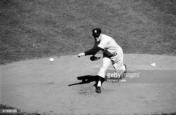 World Series New York Yankees Whitey Ford in action pitching vs Brooklyn Dodgers Game 1 Brooklyn NY 10/3/1956 CREDIT Richard Meek