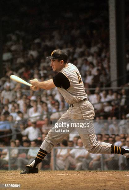 World Series Pittsburgh Pirates Bob Skinner in action at bat vs New York Yankees at Forbes Field Pittsburgh PA CREDIT Neil Leifer
