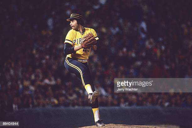 World Series Pittsburgh Pirates John Candelaria in action pitching vs Baltimore Orioles Game 6 Baltimore MD CREDIT Jerry Wachter