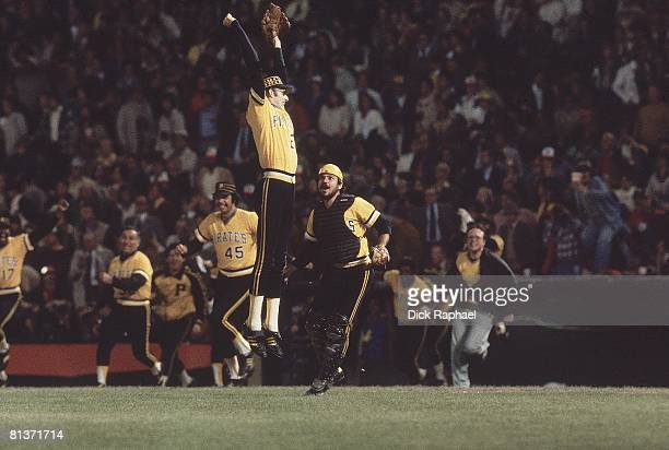 Baseball World Series Pittsburgh Pirates Kent Tekulve victorious after game vs Baltimore Orioles Baltimore MD