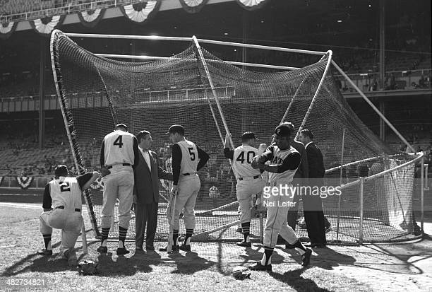 World Series Pittsburgh Pirates players during batting practice before Game 5 vs New York Yankees at Yankee Stadium Bronx NY CREDIT Neil Leifer
