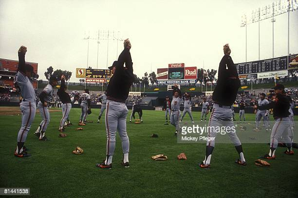 Baseball World Series San Francisco Giants before Game 1 vs Oakland Athletics Oakland CA