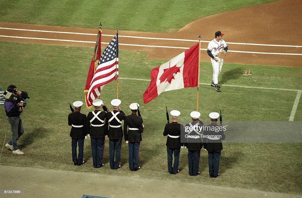US Marines, 1992 World Series : News Photo