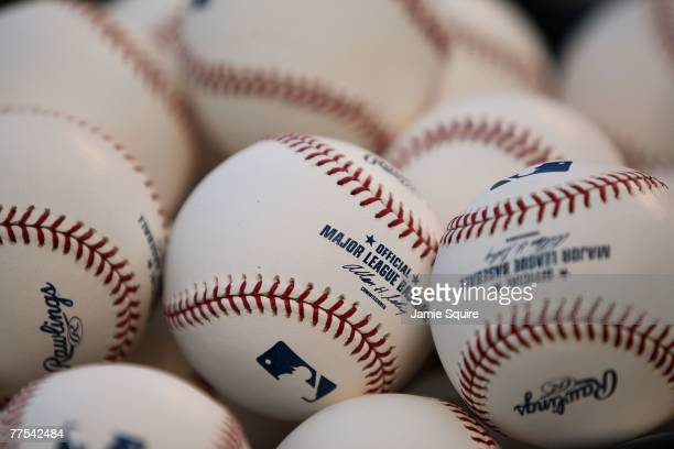 Baseballs are seen before Game Four of the 2007 Major League Baseball World Series between the Boston Red Sox and the Colorado Rockies at Coors Field...