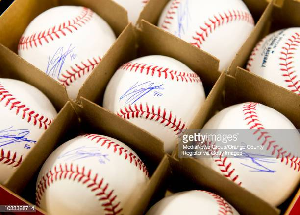 Baseballs signed by Angel Howie Kendrick to be used in a charity fundraiser on Saturday June 21 to raise money for Special Olympics Southern...