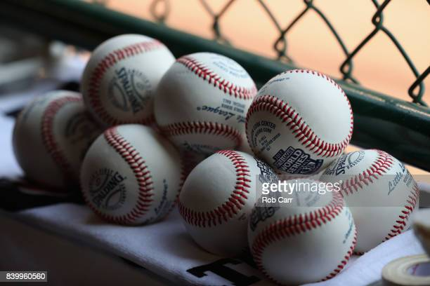 Baseballs sit in the well during the Champioinship Game of the Little League World Series between Japan and the Southwest Team from Texas at Lamade...