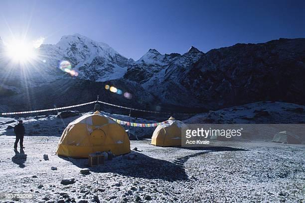 Basecamp on Mt. Cholatse, (21, 328ft.) Khumbu Region of the Nepalese Himalaya.