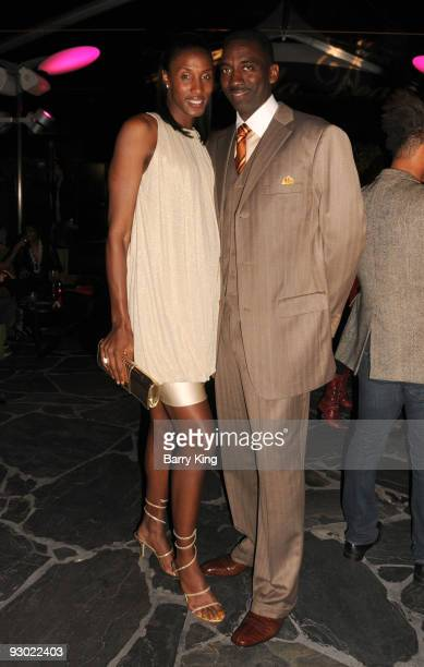 Baseketball player Lisa Leslie and husband Michael Lockwood attend the Angela Dean Fashion Show and launch party for the new ''Dean RTW'' Collection...