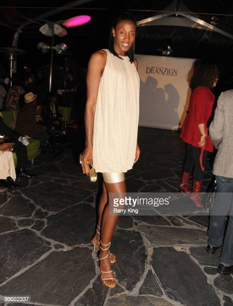 Baseketball player Lisa Leslie attends the Angela Dean Fashion Show and launch party for the new ''Dean RTW'' Collection held at The Kress on...