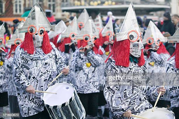 basel, fasnacht carnival, band in parade - parade stock pictures, royalty-free photos & images