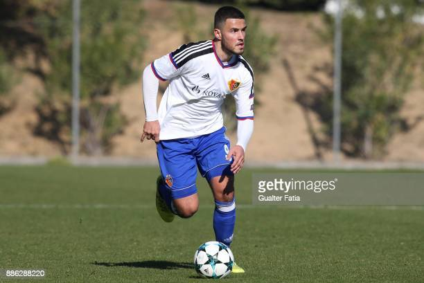 Basel forward Atdhe Rashiti from France in action during the UEFA Youth League match between SL Benfica and FC Basel at Caixa Futebol Campus on...