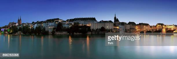 Basel - historic skyline near Rhine River (Switzerland/ Germany)