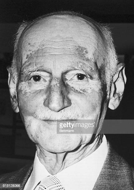 Basel, Switzerland: Recent headshot of Otto Frank, father of Anne Frank whose diary became known worldwide. Otto Frank died last night at the age of...