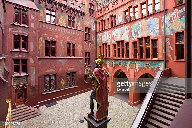 basel townhall, switzerland - basel switzerland stock pictures, royalty-free photos & images
