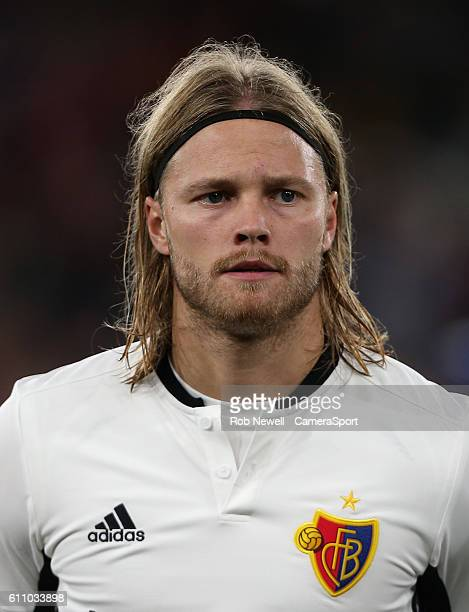 Basel's Birkir Bjarnason during the UEFA Champions League match between Arsenal FC and FC Basel 1893 at Emirates Stadium on September 28 2016 in...