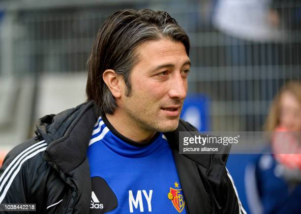 Basel's coach Murat Yakin arrives at the tryout match between Hamburger SV and FC Basel in the Imtech Arena in Hambrug Germany 18 January 2014...