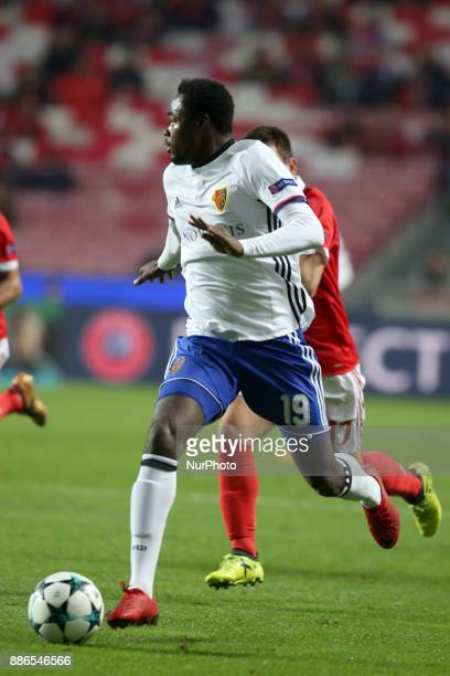 Basel's forward Dimitri Oberlin from Suisse in action during the UEFA Champions League Group A football match between SL Benfica and FC Basel at the...