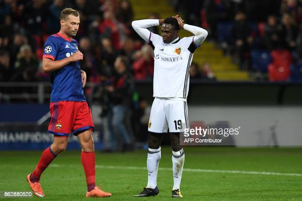 Basel's forward from Switzerland Dimitri Oberlin during the UEFA Champions League Group A football match between PFC CSKA Moscow and FC Basel 1893 at...