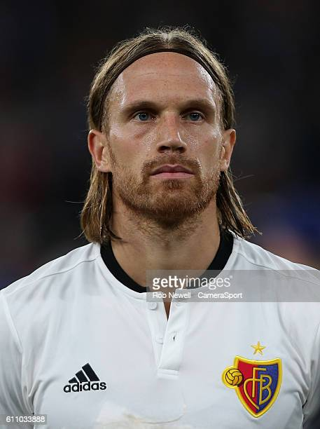 Basel's Michael Lang during the UEFA Champions League match between Arsenal FC and FC Basel 1893 at Emirates Stadium on September 28 2016 in London...