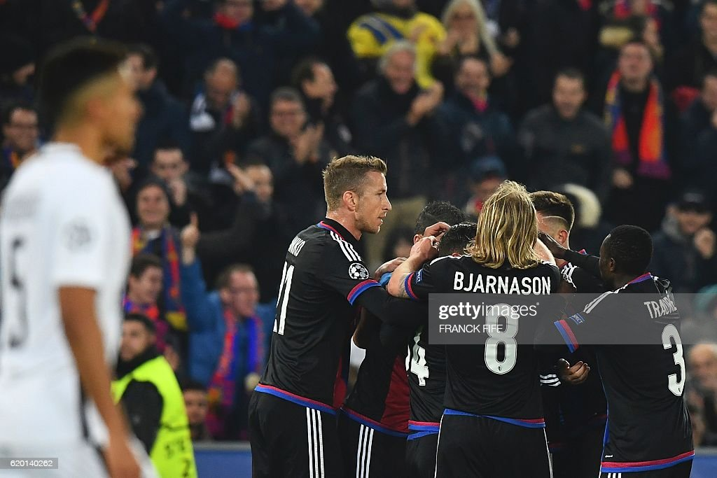 FBL-EUR-C1-BASEL-PSG : News Photo