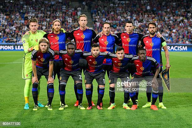 Basel's players pose prior to the UEFA Champions League group A football match beetween FC Basel 1893 and PFC Ludogorets Razgrad on September 13 2016...