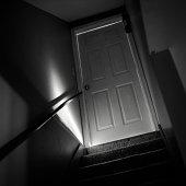 dark creepy basement. Old scary staircase  Spooky corridor Basement Door Dark Creepy Stock Photos FreeImages com