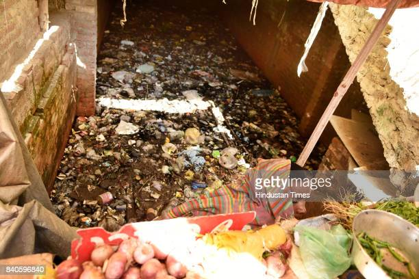 Basement filled with water and garbage in Okhla Shaheen Bagh, on August 29, 2017 in New Delhi, India. As per the report released by three municipal...