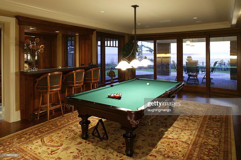 basement pool table. Exellent Basement Basement Games Room Pool Table  Stock Photo To Basement Pool Table A