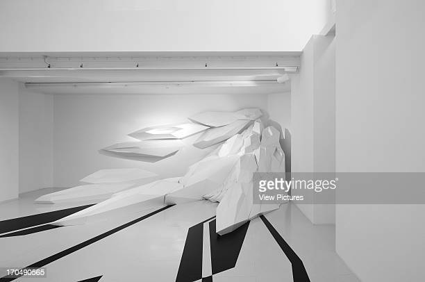 Basement level featuring Capsarc Relief Zaha Hadid Design Gallery with Fudge Hair PopUp Salon Art Installation Europe United Kingdom Zaha Hadid...