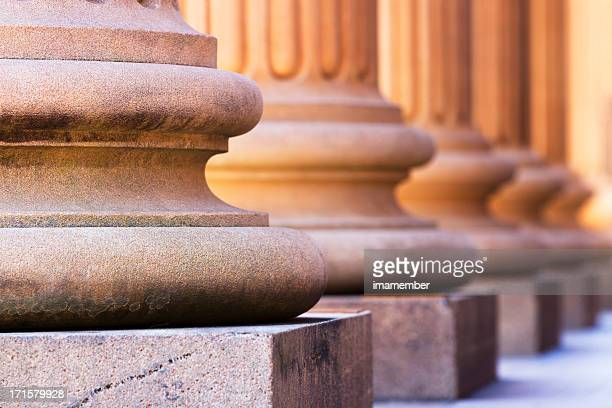 bases of marble row columns - sandstone stock pictures, royalty-free photos & images