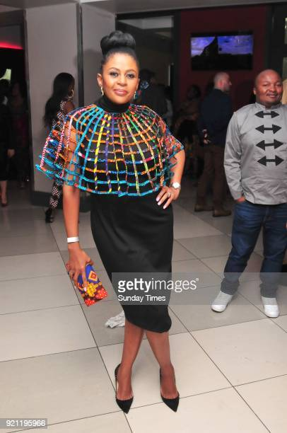 Basetsana Kumalo during the Black Panther movie premiere at Montecasino on February 16 2018 in Fourways South Africa Your culture in South Africa...