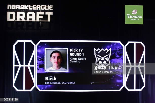 Bash gets picked during the NBA 2K League Draft on February 22 2020 at Terminal 5 in New York New York NOTE TO USER User expressly acknowledges and...
