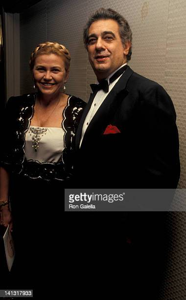 Basha Johnson and Placido Domingo at the Por Los Ninos Gala Honoring Placido Domingo Waldorf Astoria Hotel New York City