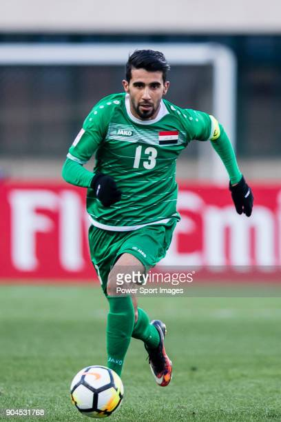 Bashar Resan of Iraq in action during the AFC U23 Championship China 2018 Group C match between Iraq and Malaysia at Changshu Sports Center on 10...