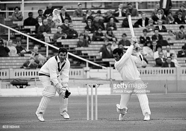 Basharat Hassan batting for Nottinghamshire during the John Player League match between Lancashire and Nottinghamshire at Old Trafford Manchester...