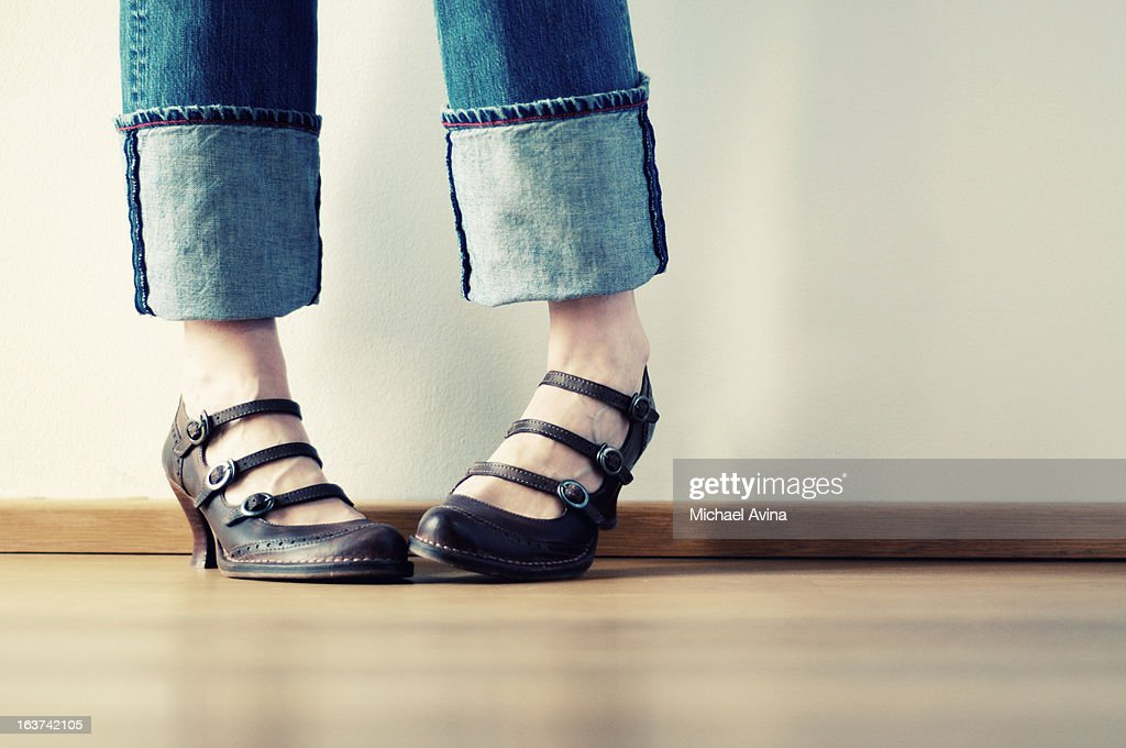 Bashful Feet : Stock Photo
