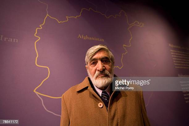 Bashir Ahmad Fazli Barekzai of the Kabul Attorney General's office poses at the 'Hidden Afghanistan' Exhibition at the Nieuwe Kerk Museum on December...