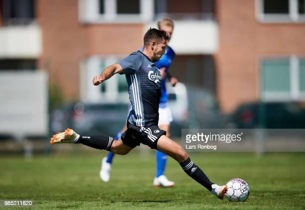 Bashkim Kadrii of FC Copenhagen in action during the friendly match between FC Copenhagen and Lyngby Boldklub at KB's baner on June 27 2018 in...