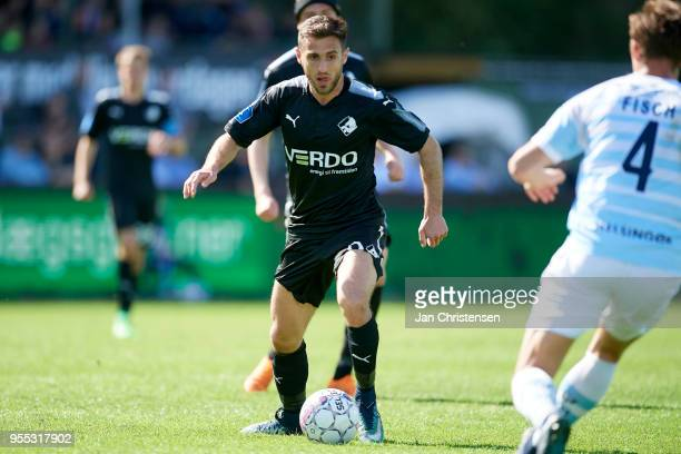 Bashkim Kadrii of Randers FC in action during the Danish Alka Superliga match between FC Helsingor and Randers FC at Helsingor Stadion on May 06 2018...