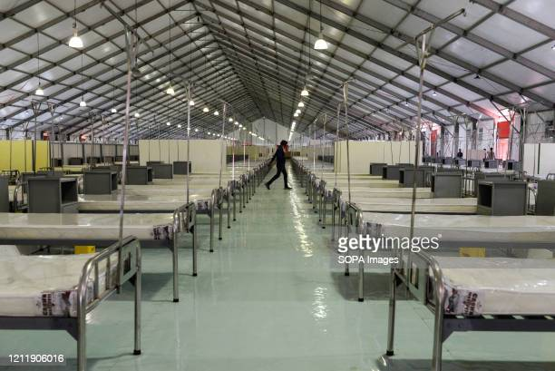 Bashundhara Convention center that has been converted into a makeshift 5000-bed Hospital for Corona patients during the covid 19 pandemic. Bangladesh...
