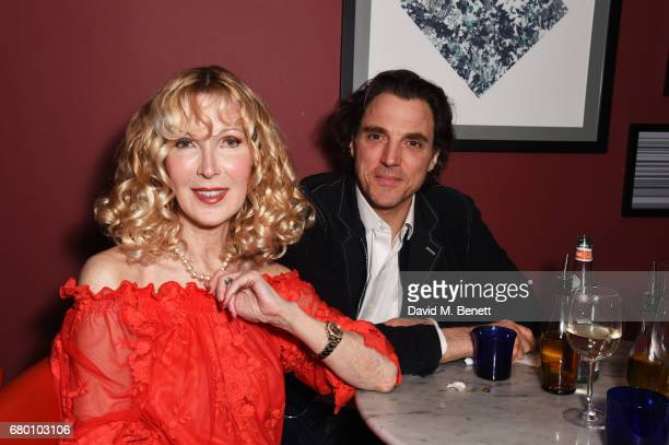 Basia Briggs and Alexander Newley attend as Nicky Haslam performs his new cabaret show 'Wherever There's Love' at The Pheasantry on May 7 2017 in...