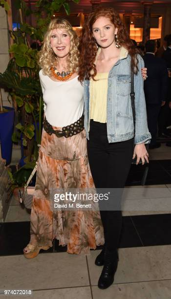 Basia Briggs and Lizzie Morton attend a private view of 'Frida Kahlo Making Her Self Up' at The VA on June 13 2018 in London England